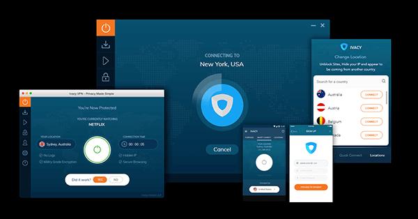 Ivacy VPN的畫面截圖